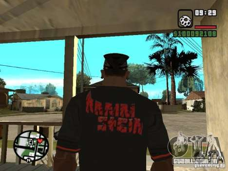 Rammstein t-shirt v2 para GTA San Andreas segunda tela