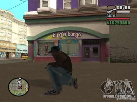 Blue Nike Air Force para GTA San Andreas terceira tela