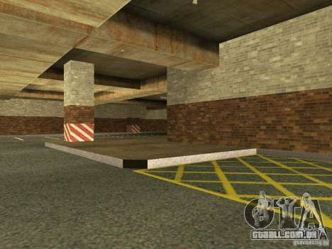 A nova garagem subterrânea pela polícia de Los S para GTA San Andreas