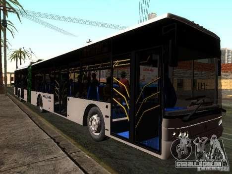 Trólebus LAZ E301 para GTA San Andreas traseira esquerda vista