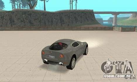 Alfa Romeo 8 c Competizione estoque para vista lateral GTA San Andreas