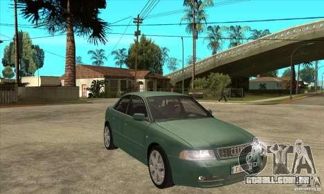 Audi S4 2000 para GTA San Andreas vista traseira