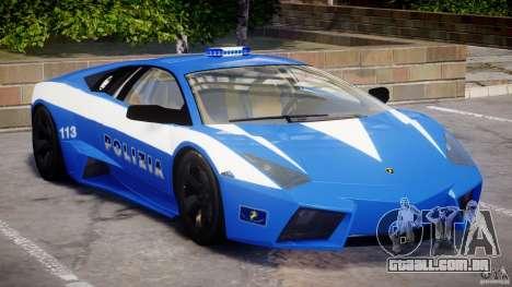 Lamborghini Reventon Polizia Italiana para GTA 4 esquerda vista