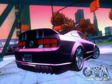 Ford Mustang Eleanor Prototype para GTA San Andreas vista traseira