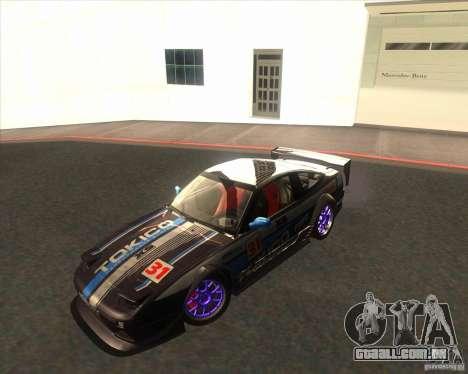 Nissan 240SX for drift para GTA San Andreas traseira esquerda vista