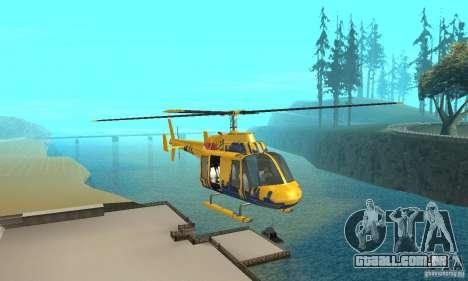 O helicóptero de turismo de gta 4 para GTA San Andreas vista traseira