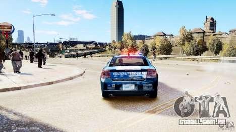 POLICIA FEDERAL MEXICO DODGE CHARGER ELS para GTA 4 traseira esquerda vista