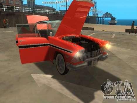 Plymouth Belvedere Sport sedan para GTA San Andreas vista traseira