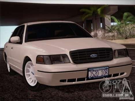 Ford Crown Victoria Interceptor para GTA San Andreas traseira esquerda vista