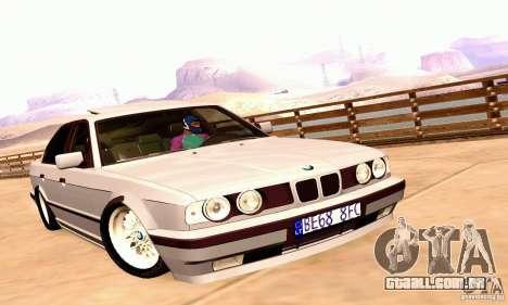 BMW E34 525i para GTA San Andreas traseira esquerda vista