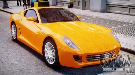 Ferrari 599 GTB Fiorano para GTA 4 vista superior