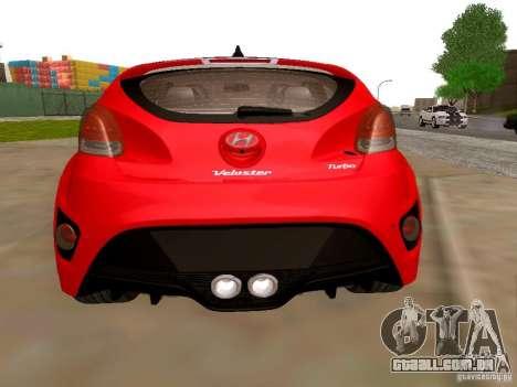 Hyundai Veloster Turbo v1.0 para GTA San Andreas traseira esquerda vista
