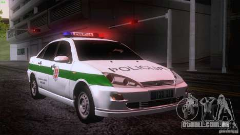 Ford Focus Policija para GTA San Andreas