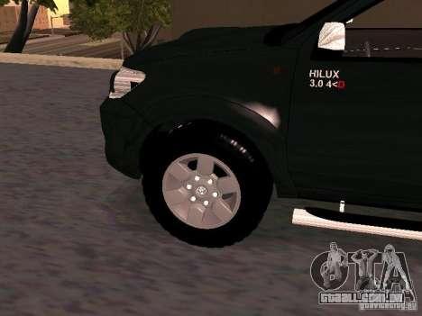 Toyota Hilux SRV 3.0 4X4 Automatica para GTA San Andreas vista direita