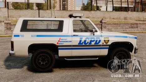 Polícia rancheiro ELS para GTA 4 esquerda vista