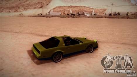 Pontiac Firebird Trans Am para GTA San Andreas traseira esquerda vista