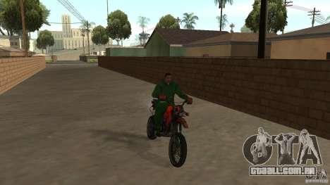 Motocicleta Mirabal para GTA San Andreas esquerda vista