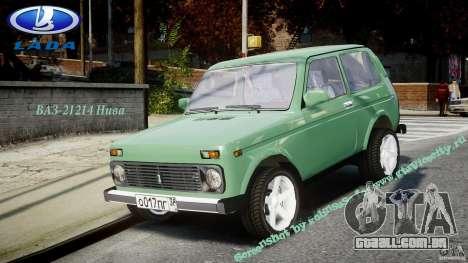 VAZ 21214 Niva (Lada 4x4) para GTA 4 vista direita