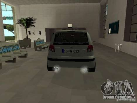 Hyundai Getz para GTA San Andreas vista direita