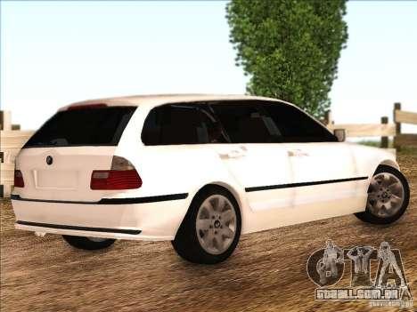 BMW M3 E46 Touring para GTA San Andreas vista direita