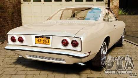 Chevrolet Corvair Monza 1969 para GTA 4 traseira esquerda vista