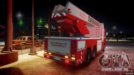 Scania Fire Ladder v1.1 Emerglights blue-red ELS para GTA 4 rodas