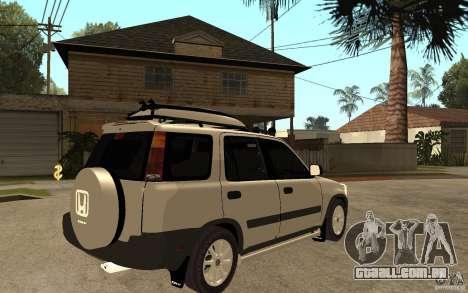 Honda CRV 1997 para GTA San Andreas vista direita