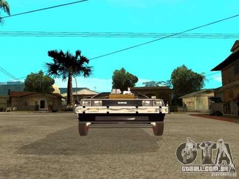 DeLorean DMC-12 para GTA San Andreas vista direita