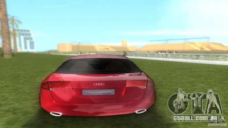 Audi Nuvolari Quattro para GTA Vice City vista traseira esquerda