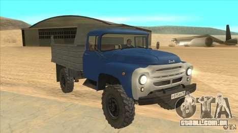 ZIL-MMZ 4502 movimentação de quatro rodas para GTA San Andreas vista traseira