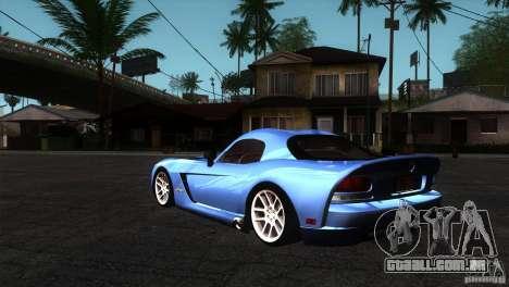 Dodge Viper SRT10 Stock para GTA San Andreas traseira esquerda vista