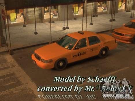 Ford Crown Victoria Taxi para GTA 4