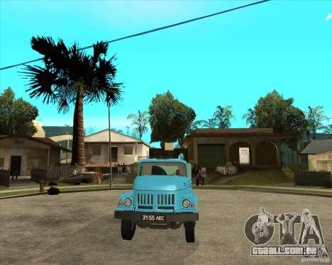 Caminhão de lixo ZIL-131 para GTA San Andreas vista traseira