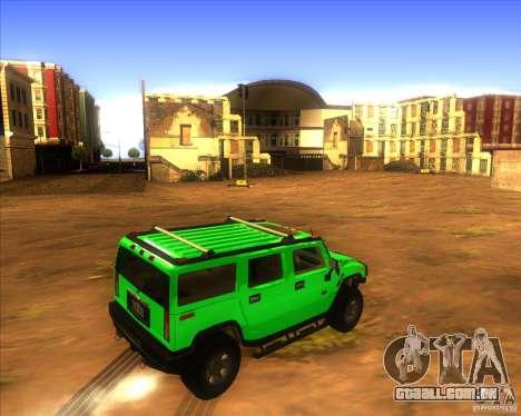 Hummer H2 updated para GTA San Andreas traseira esquerda vista