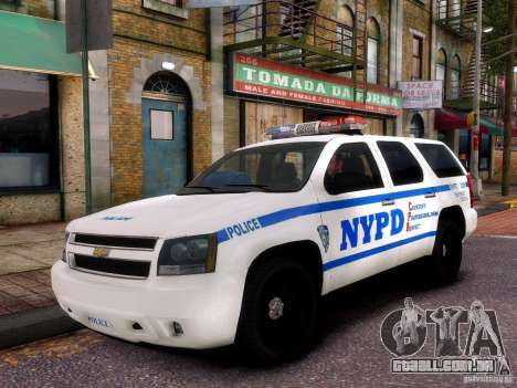 Chevrolet Tahoe New York Police para GTA 4