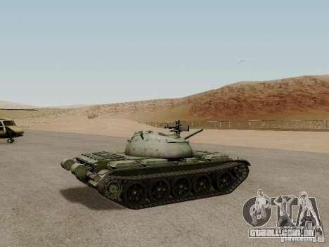 Type 59 para GTA San Andreas traseira esquerda vista