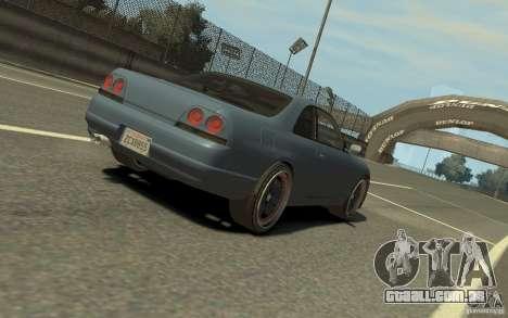 Nissan Skyline GT-R V-Spec 1997 para GTA 4 vista direita