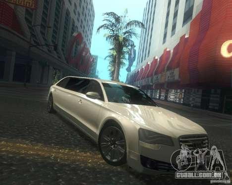 Audi A8 2011 Limo para GTA San Andreas vista interior