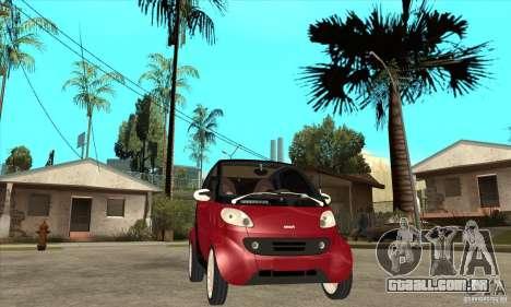 Smart para GTA San Andreas vista interior