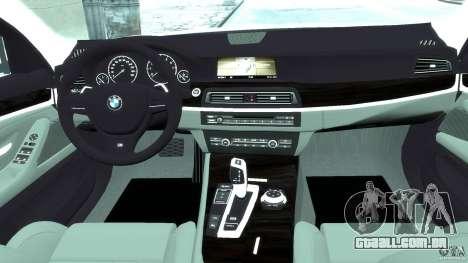 BMW M5 F11 Touring para GTA 4 vista direita