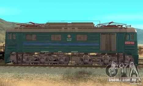 Locomotiva VL23-419 para GTA San Andreas traseira esquerda vista