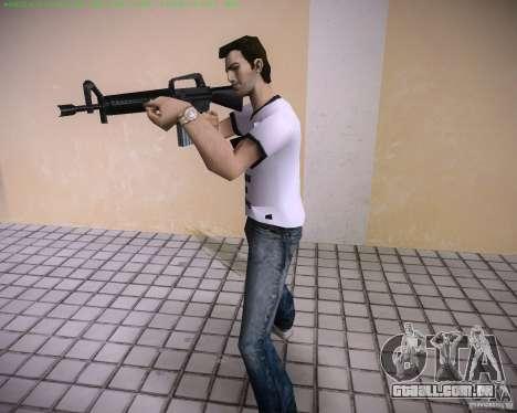 Nova M4 para GTA Vice City por diante tela