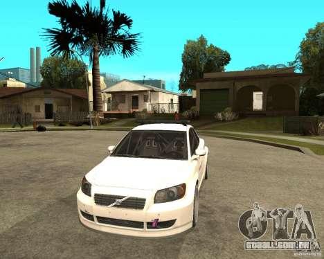VOLVO C30 SAFETY CAR STCC v2.0 para GTA San Andreas vista traseira