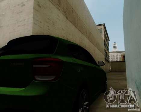 BMW M135i V1.0 2013 para GTA San Andreas vista interior