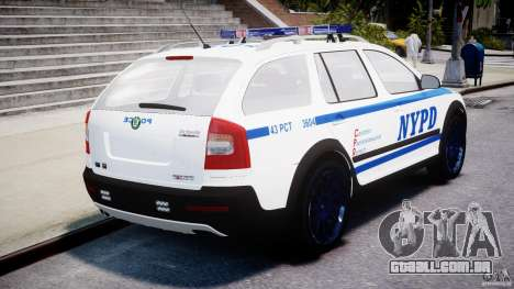 Skoda Octavia Scout NYPD [ELS] para GTA 4 traseira esquerda vista