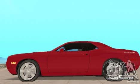 Dodge Challenger 2007 para GTA San Andreas traseira esquerda vista