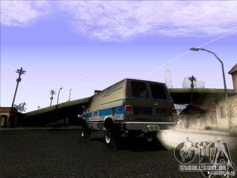 Chevrolet VAN G20 NYPD SWAT para GTA San Andreas vista direita