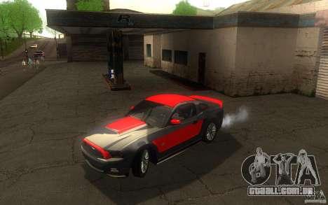 Ford Mustang GT V6 2011 para GTA San Andreas vista superior