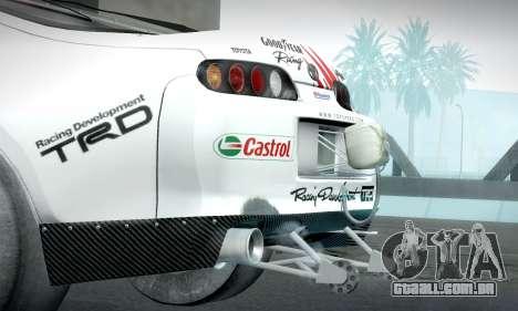 Toyota Supra JZA80 RZ Dragster para GTA San Andreas vista direita