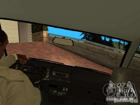VAZ 2108 Gangsta Edition para GTA San Andreas vista interior